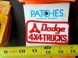 HOLM PATCHES DODGE 4X4 TRUCKS SEW ON PATCH RED & WHITE VINTAGE PATCH