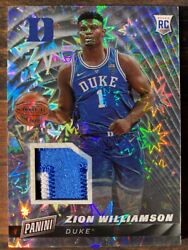 Zion Williamson 2019 Panini Cyber Monday RC True One of One Jersey Patch 11