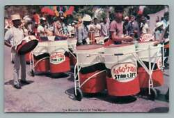 Early Steel Drum Band Angostura Star Lift Trinidad Paradevintage Oil Drums