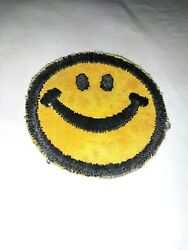 Smiley Face Retro Boho Hippie 70s Embroidered Applique Iron/sew On Patch