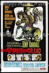 7 Faces Of Dr. Lao 1964 Repro Reproduction Print Us Fantasy Poster George Pal