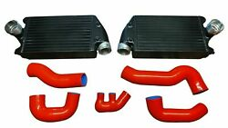 Twin Turbo Intercooler Kit W/ Charge Pipe For 2001-09 Porsche 911 996 997 Tt Gt2