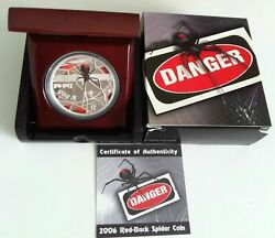 2006 1 Dds Redback Spider 1oz Silver Proof Coin