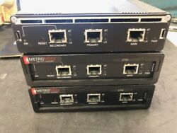 Lot Of 3 Metrobility 2752 Optical Systems 1000 Base Tx To Dual Fx Sa Convrt Mod