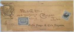 143lp9 And 246 On Newspaper Wrapper To Ogden Utah Agent Of Wells Fargo In Chicago