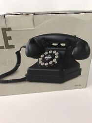 Crosley Kettle Classic Desk Phone In Black With Rotary-look Dial And Spiral Cord