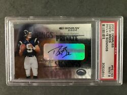 Drew Brees 2002 Donruss Private Signings Psa 9