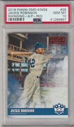 Jackie Robinson 2018 Diamond Kings 28 Red Artists Proof Psa 10 Gem Mint Only 1