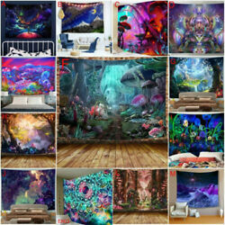 Psychedelic Hippie Tapestry Room Wall Hanging Scenery Tapestries Art Decor