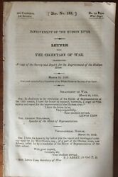 Improvement Of The Hudson River 22nd Congress 1831-33 29 Page Booklet