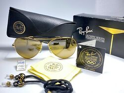 VINTAGE RAY BAN B&L OLYMPIC SERIES RB50 LENSES 1992 RARE FULL SET USA SUNGLASSES