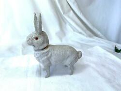 Easter Bunny Rabbit Candy Container Germany C1920 Glass Eyes Easter Holiday Rare