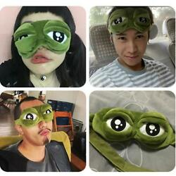 Funny 3D Green Frog Eye Mask Patch Travel Aid Sleep Shade Cover Blindfold G
