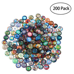 200pcs Mosaic Tiles Diy Mixed Round For Jewelry Making Crafts 10/12/14mm Glass