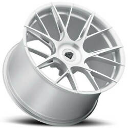 4 20 Staggered Blaque Diamond Wheels Bd-f18 Brushed Silver Rimsb31