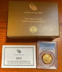 2012-w 10 Alice Paul Pcgs Ms70 First Spouse Gold Coin