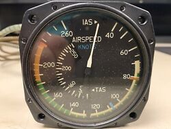 Cessna True Airspeed Indicator C661045-0308 With Capillary Tube Aircraft Inst