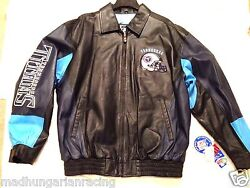 New Nfl Tennessee Titans Giii Real Genuine 100 Leather Jacket Large New W/ Tag