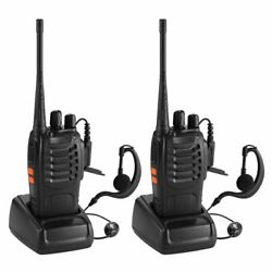 2pcs 470mhz Walkie Talkie Uhf Two Way Radio Portable Transceiver With Earpiece
