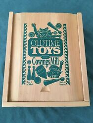 Old Time Toys From Cowing Mills - Box Set - Spinning Top, Marbles, And More