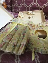Doll Terri Lee Clothing Yellow Garden Party Tagged 1950s