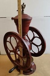 Large Vintage Elgin 46 National Coffee Mill Grinder With Eagle Finial
