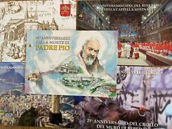 5 Vatican Stamps And Coins Uncirculated