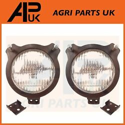 2x David Brown 770 780 1200 1210 Tractor Headlight And Lamp Rubber Mount Cowl Kit