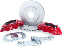 Alcon Alcbkf1559be11 For Ford F-150 Rotors 6-piston Red Front Brake Kit