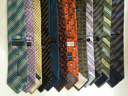NORDSTROM AND OTHERS 11 MEN SILK TIES.NEW. $44.99
