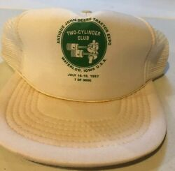 Vintage 1987 Antique John Deere Tractor Expo Two Cylinder Club Hat 1 Of 3000