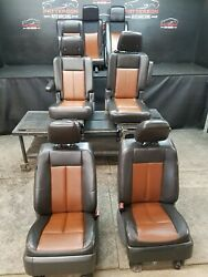 2009 Ford Expedition Ltd. Brown/black Leather Set Of Front, 2nd, And 3rd Row Seats