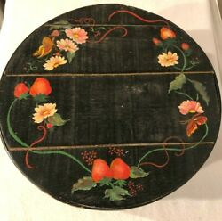 Vtg Dutch Shaker Style Painted Pantry Round Primitive Crate 12 Cheese Hat Box