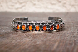 Navajo-amber And Sterling Silver Bracelet By Priscilla Apache-native American