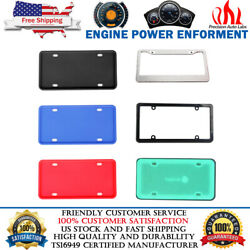Universal License Plate Frame Holder Cover With Screws Front And Rear Color Choice