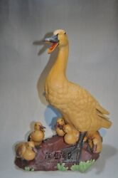Collect Chinese Ceramics Porcelain Feng Shui Animal Duck Wealth Ornament Statue