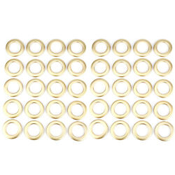 40x Matte Gold Eyelet Curtain Rings Round Snap Clips Grommet Window Decor 33mm
