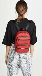 Authentic Alexander Wang Soft Attica Leather Red Medium Backpack W/ Chains New