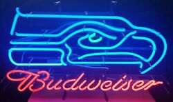 12th Man Cave Neon Sign 30 Seattle Seahawks Budweiser Light Up Neon Bar Sign