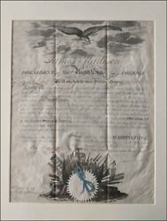 Very Rare, President James Madison Signed, U S Naval Commission, 1812, War Dated