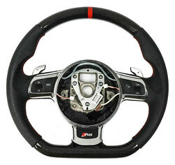 Genuine Audi R8 /also R8 Gt/r-tronic Carbon Leather Steering Wheel Shift Paddles
