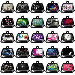 Laptop Neoprene Bag Case Sleeve With Shoulder Strap Fits 10 inch to 17.4 inch $17.95