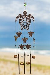 Vp Home Rustic Copper Tribal Turtles Outdoor Garden Decor Wind Chime