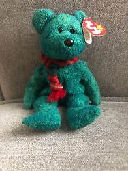 Vintage 1999 Ty Beanie Baby Wallace Stuffed Toy Plush Bear Rare With Errors