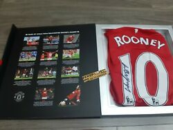 Box Set Manchester United Rooney 400 Match Hand Signed Limited 2011 2012 Shirt