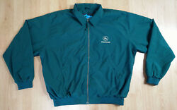 Tri-Mountain Jacket Men L John Deere Windbreaker Coat Zip Embroidered Logo Green $32.00