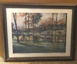 Tom Lynch Signed Framed Water Color Painting 1991 Medinah Classic Golf Tourney