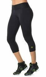 Zumba Perfect Capri Leggings - Sew Black Size Xs Small Medium New