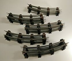 Electric Train Railroad Tracks 36 Pc Straight And Curved Toy Set Parts Lot Vintage