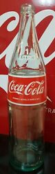 Vtg Rare Nos Never Filled Large Coca-cola Foreign Bottle - Red/wht Acl - 1 Litro